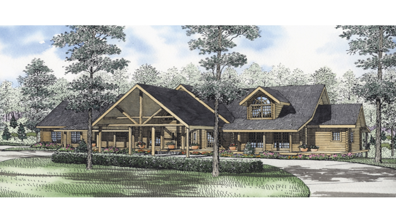 Luxury log cabin house plans luxury log homes luxury log for Luxury log home