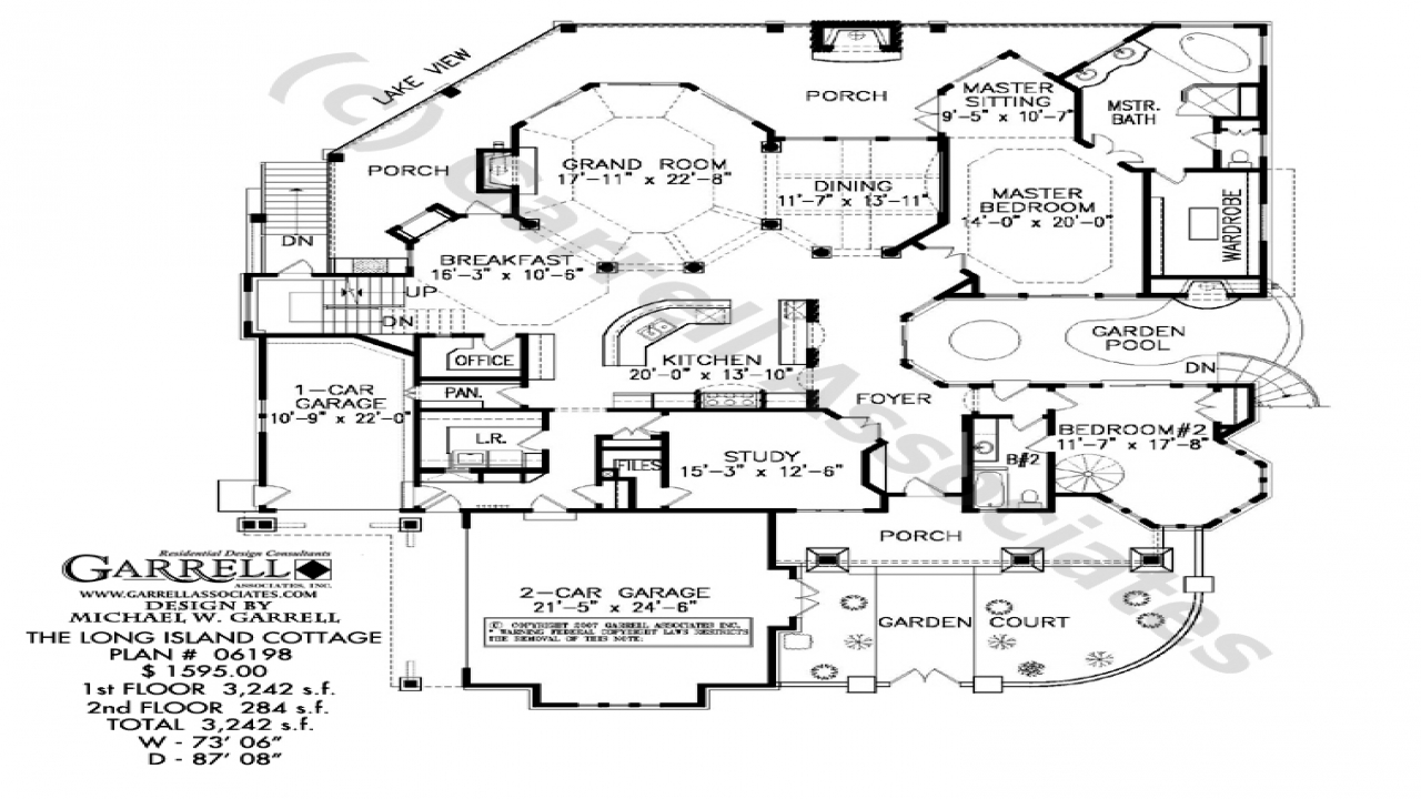One level ranch style home long ranch style house plans for Island cottage house plans