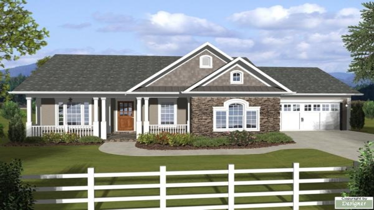 Ranch House Plans With Attached Garage Ranch House Plans With Basements Popular One Story House