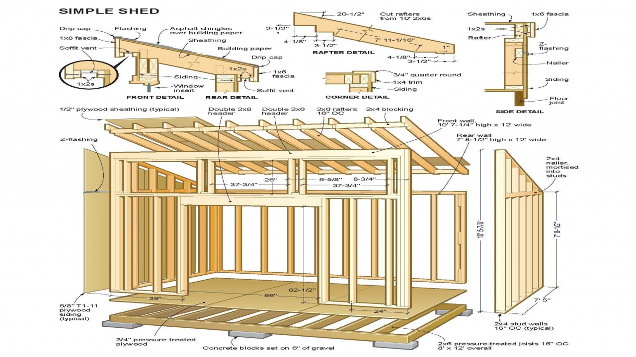 10x10 Shed Plans Free Shed Roof Cabin Plan Barn Shed