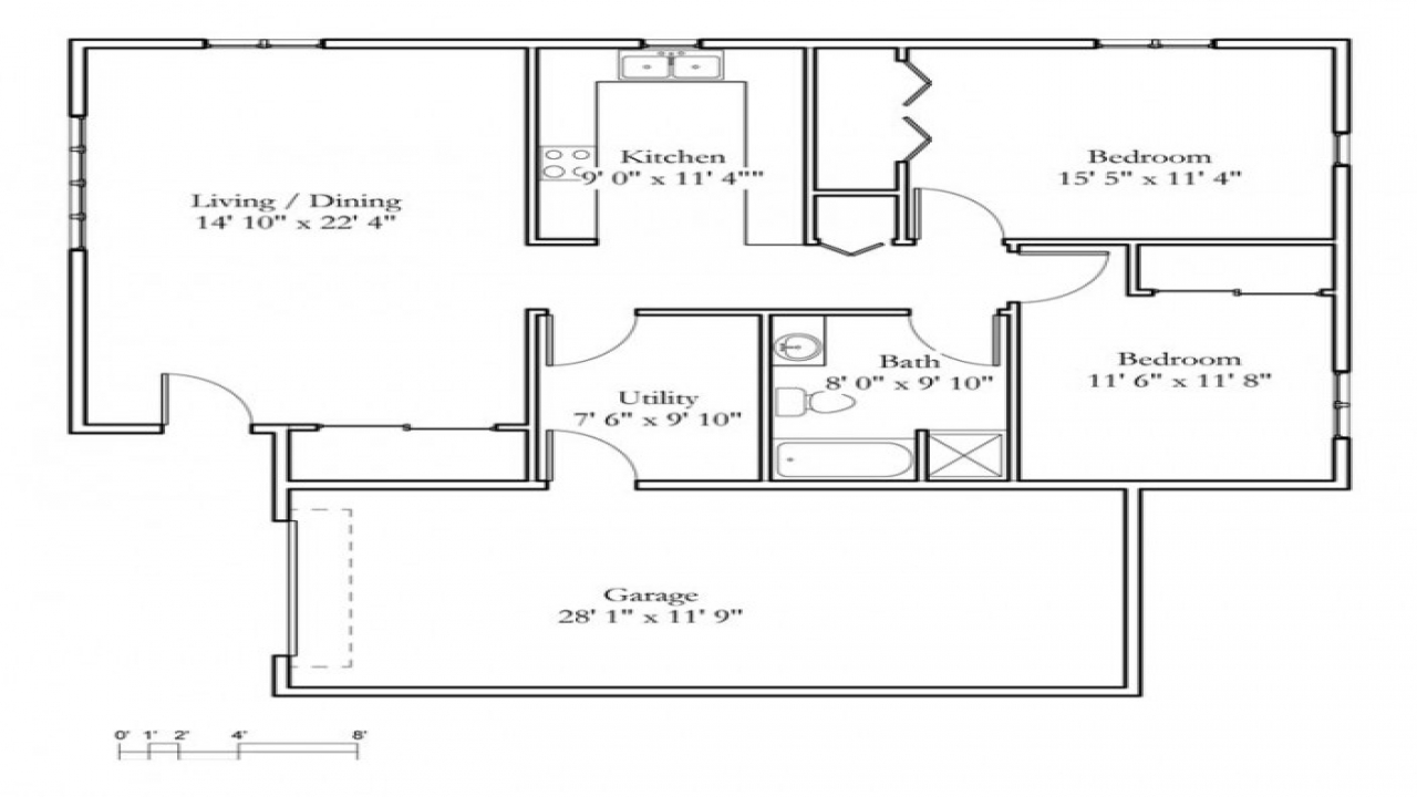 Small 2 Bedroom Cottage 2 Bedroom Cottage Floor Plans ...