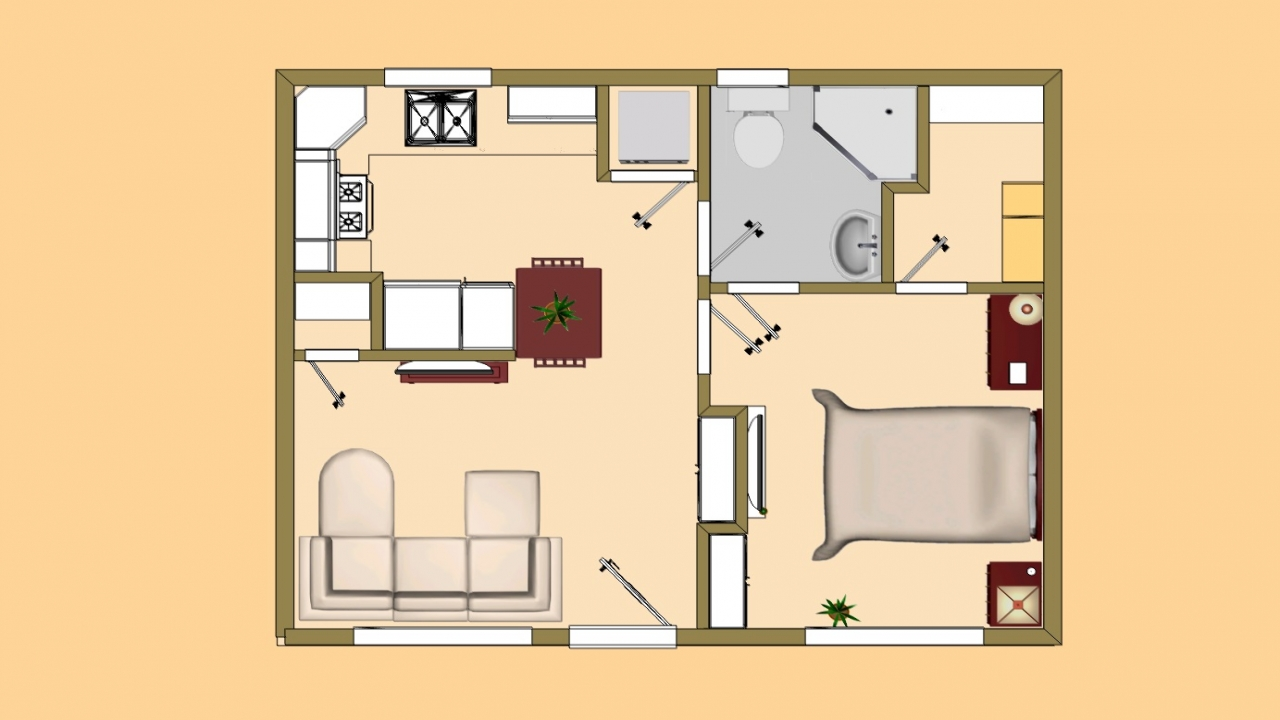 Small house plans under 500 sq ft small house plans under for Cabin floor plans under 1000 square feet