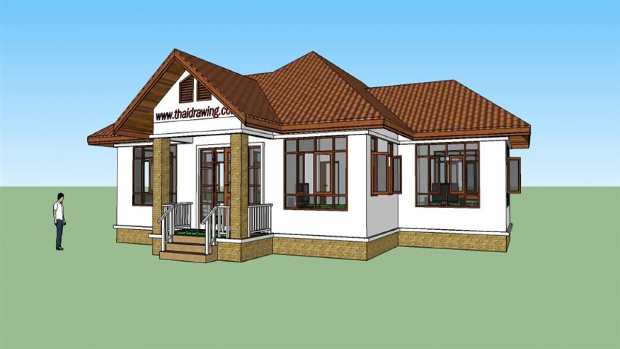 Thai house plans free house thai architecture design for Free farmhouse plans