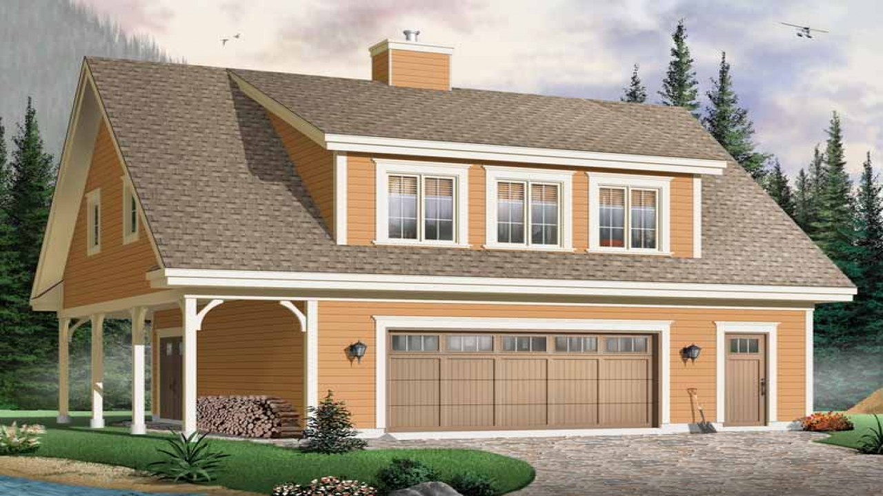 Garage Plans With 2 Bedrooms Garage Plans With Living