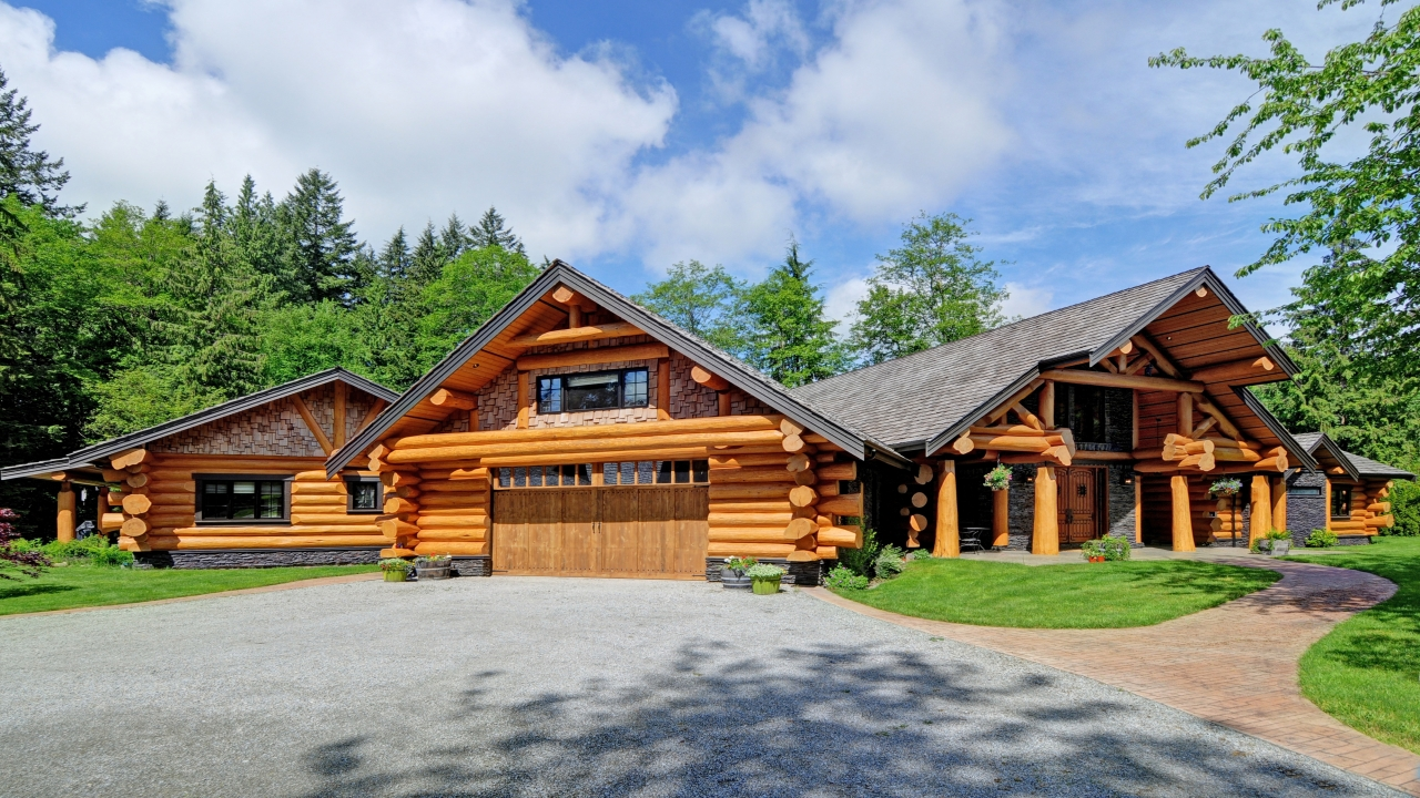 Handcrafted log home summit log and timber homes square for Square log home plans