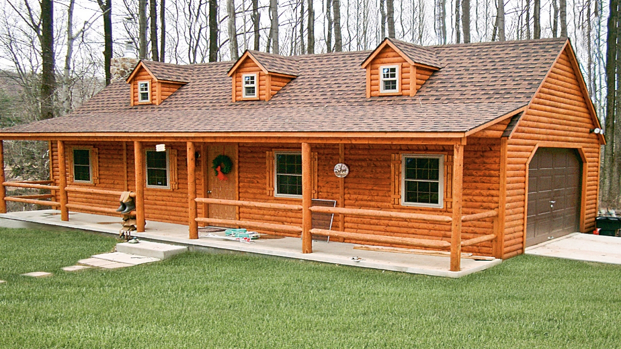 Modular log cabins as homes wood cabin modular homes for Lodge style homes