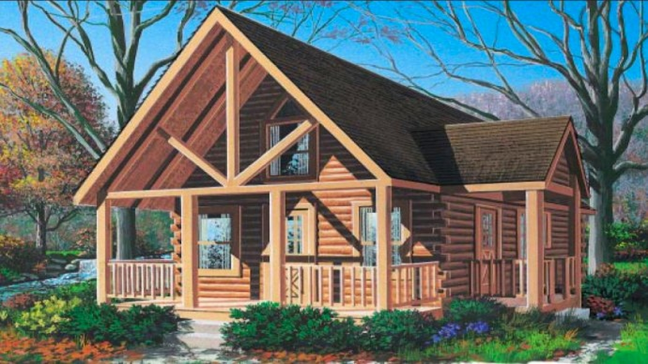 Small log cabin homes plans small log cabin plans small for Small lodge style homes
