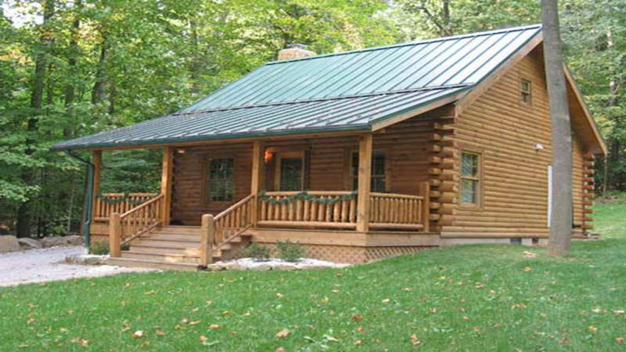 Small log cabin kits log cabins broken bow cabins log for Square log cabin