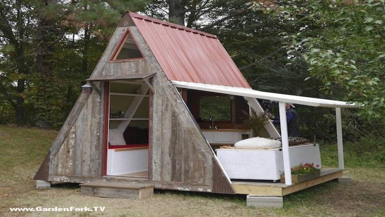 Tiny Home Designs: Tiny A Frame Cabin Plans Frame A Small Cabin House