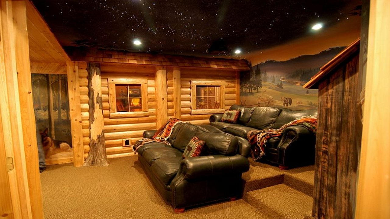 A log cabin style homes with basement beautiful log cabin for Log cabin styles