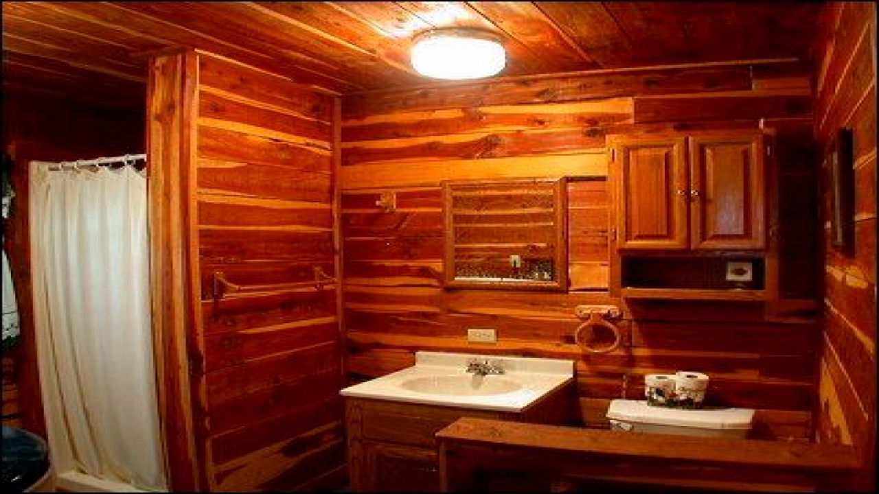Bathroom Wall Bathroom Wallpaper Cabin Cabin Bathroom