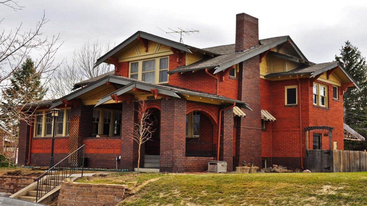 Brick craftsman architecture brick craftsman bungalow for Craftsman style architecture