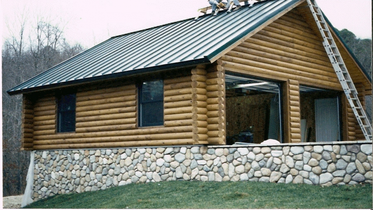 Killington Log Home With Two Car Garage Log Homes With