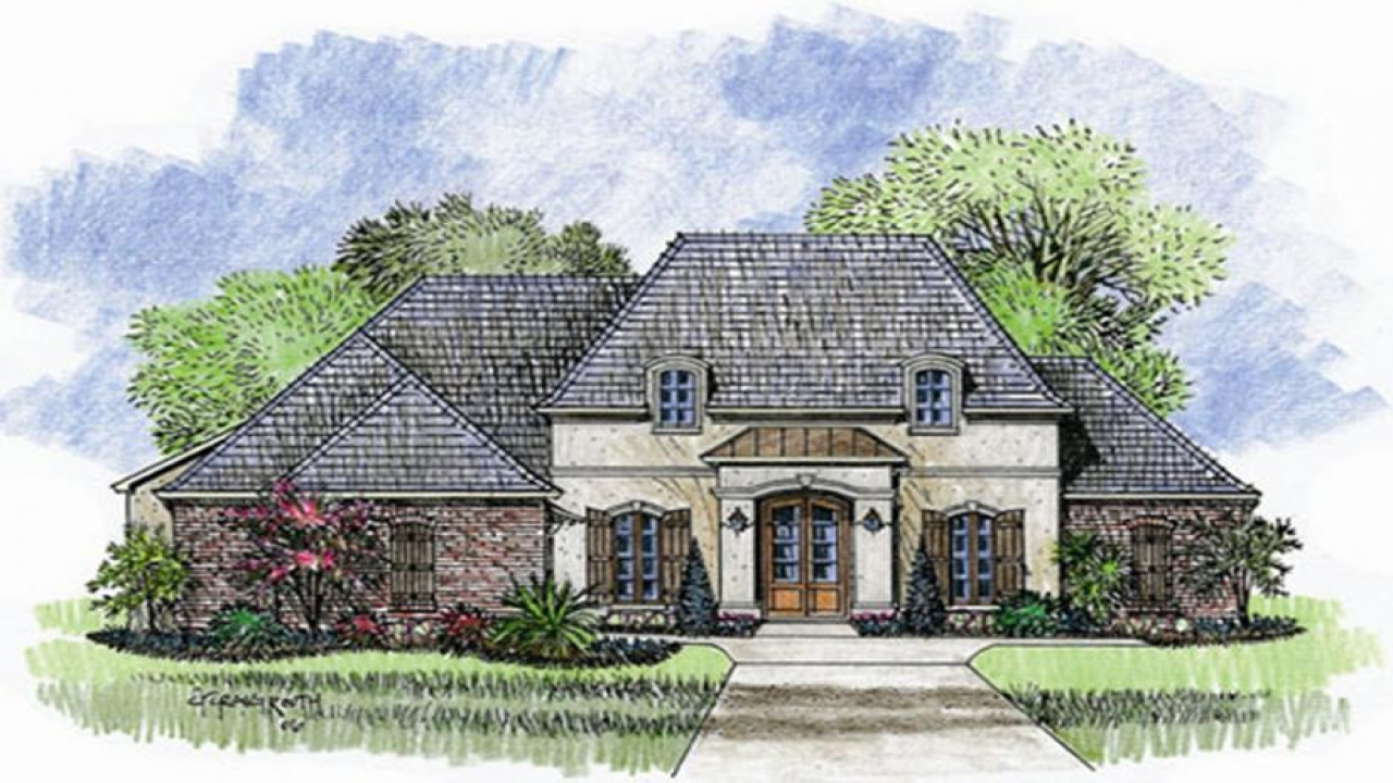 One story house plans french country one story french for One story french country house plans