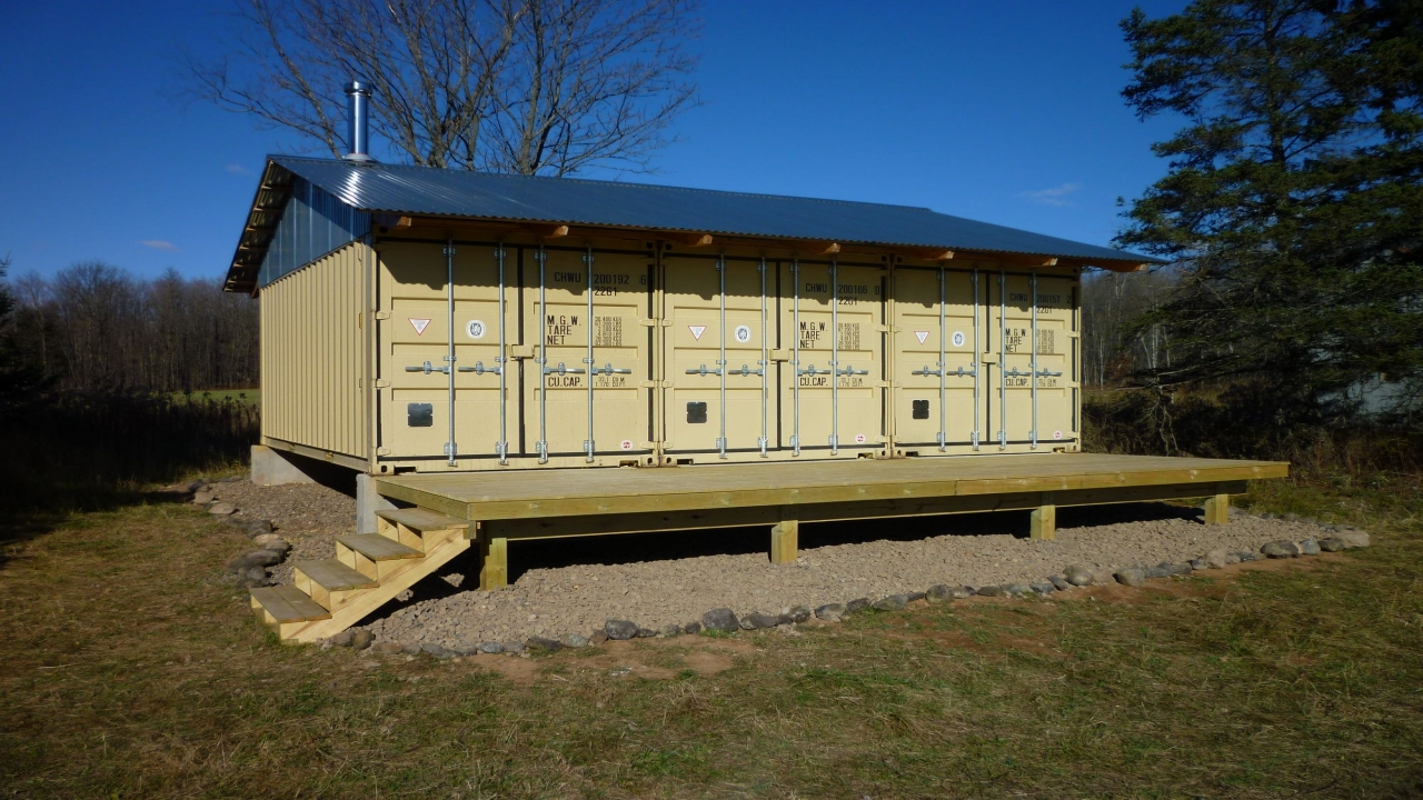 Shipping container home studio shipping container home cabin cabin deck - Container homes alberta ...