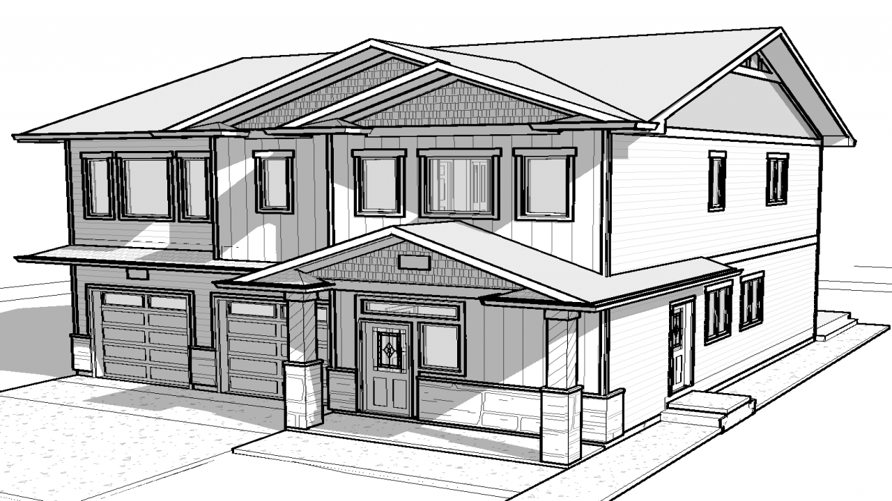 Simple 3d house drawing simple house designs house for Easy house plans to draw