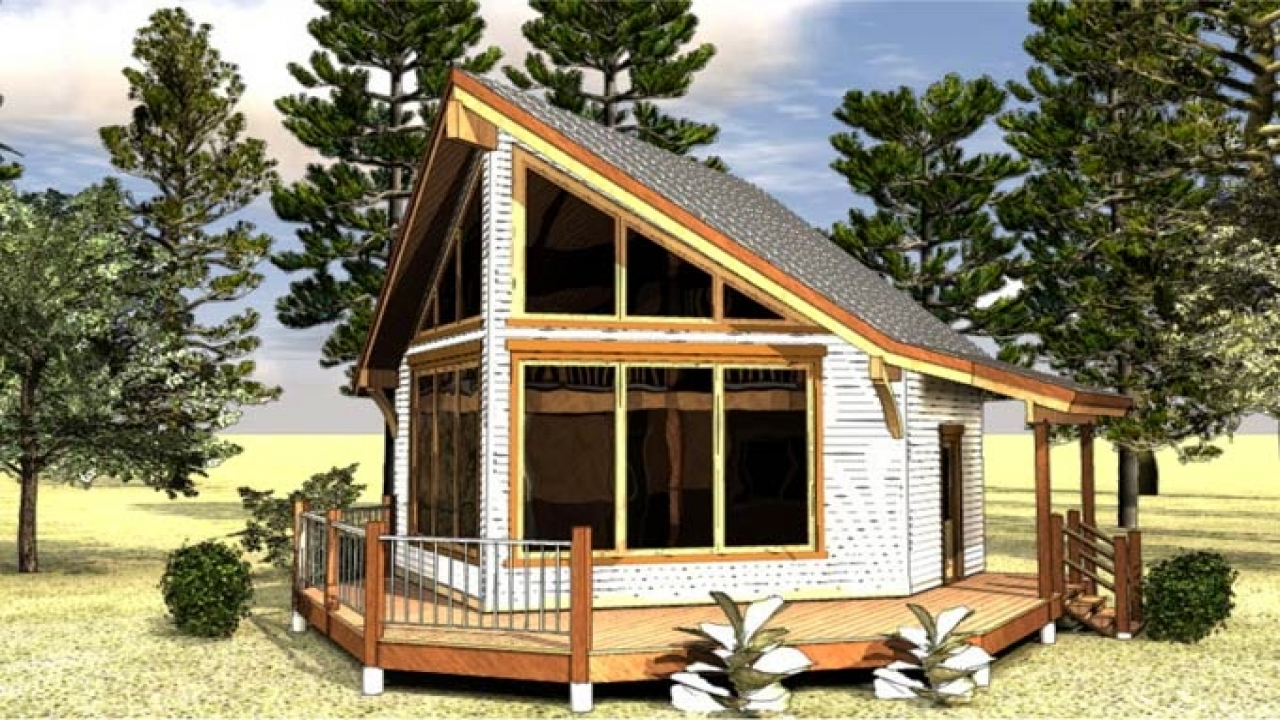 Small cabin house plans with loft unique small house plans for Unique cottage plans