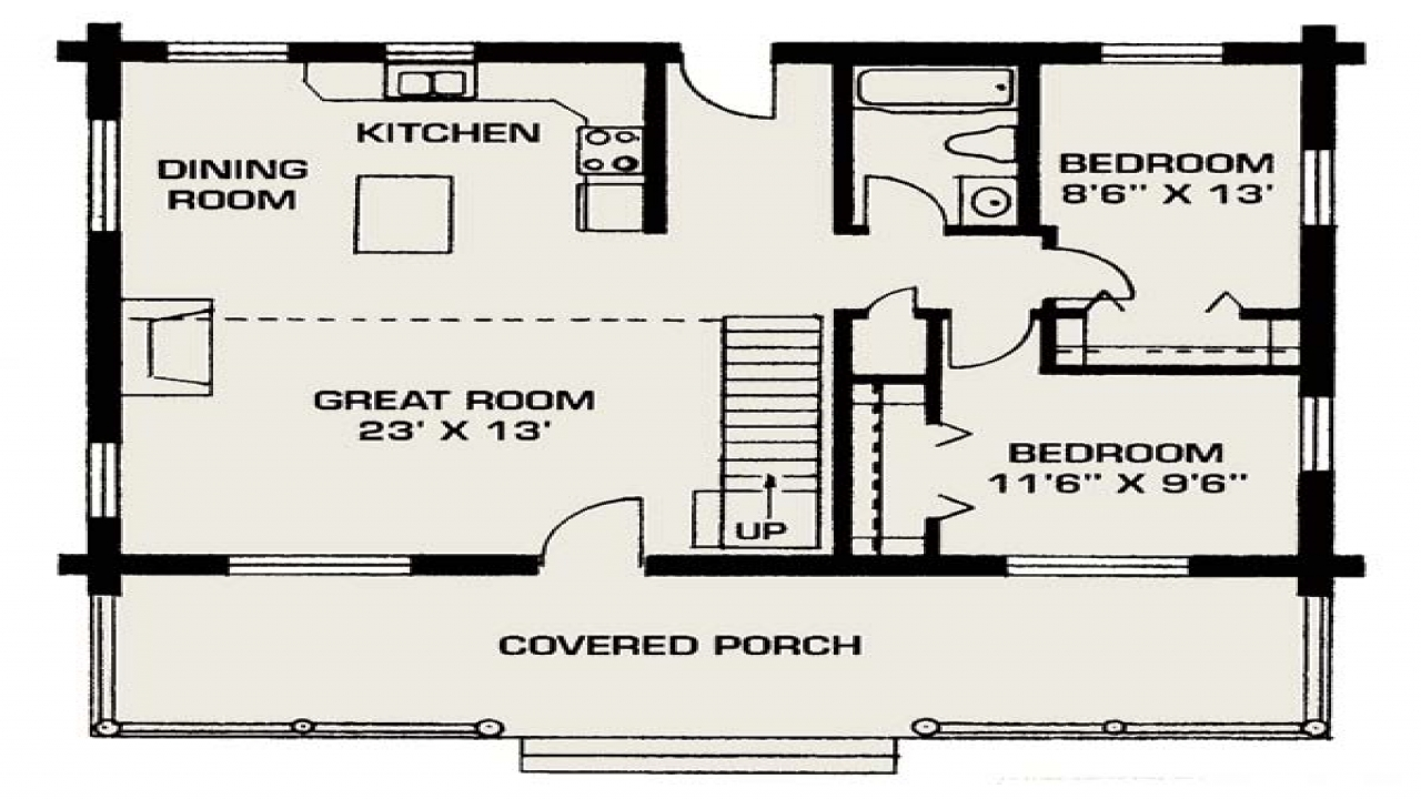 Small log cabins small log house floor plans small for Log cabin kit floor plans