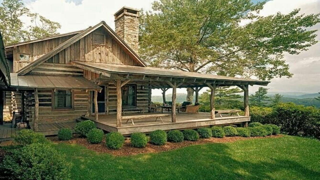 Small log cabins with wrap around porch small log cabins for 800 sq ft log cabin