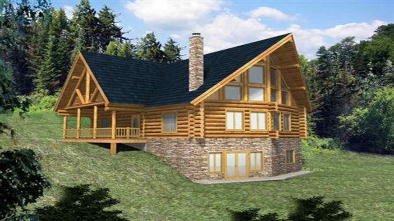Log home plans with walkout basement log home plans with for Log home plans with garage