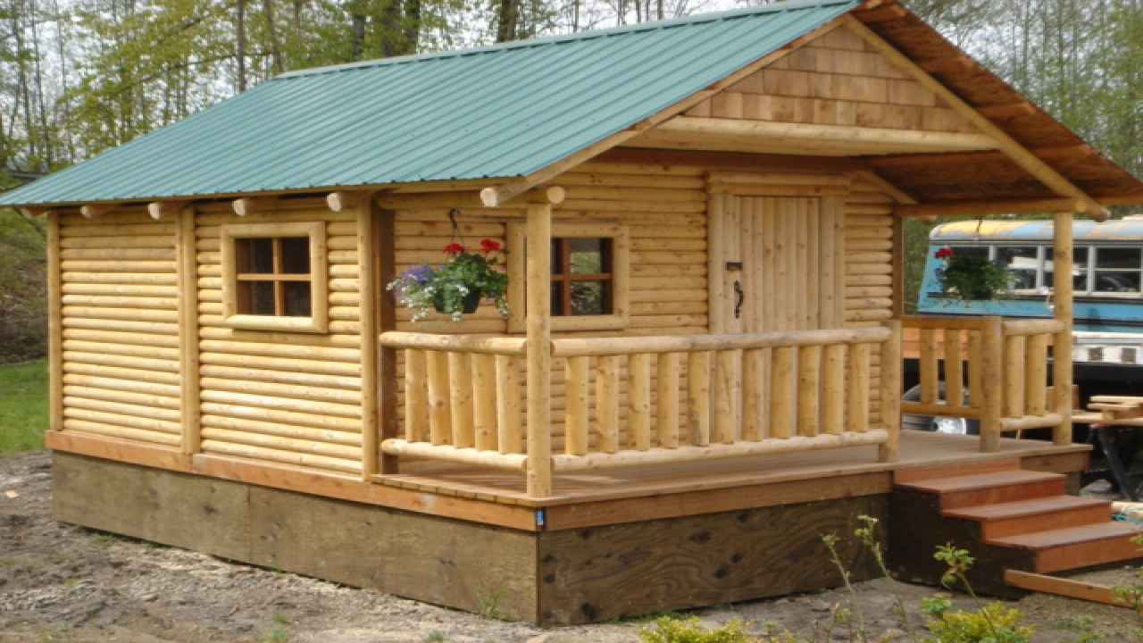 Mini cabins and houses micro log cabin kits building for Small cabin kits