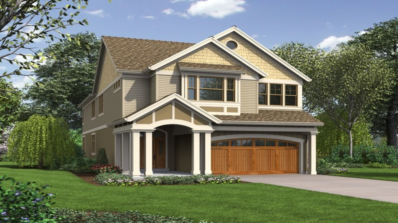 Narrow lot house plans with garage best narrow lot house for Skinny lot house plans