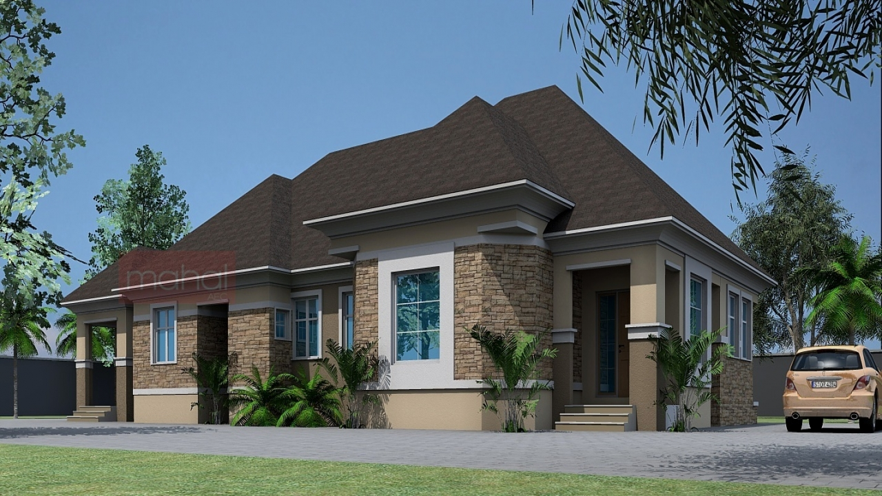 Nigeria duplex bungalow house designs pictures garage - Bungalow house plans with attached garage ...