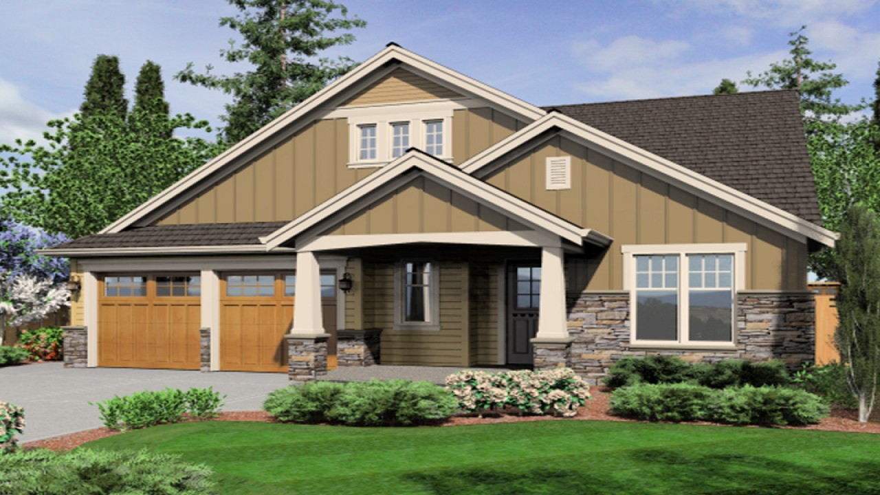 Single Story Craftsman House Plans