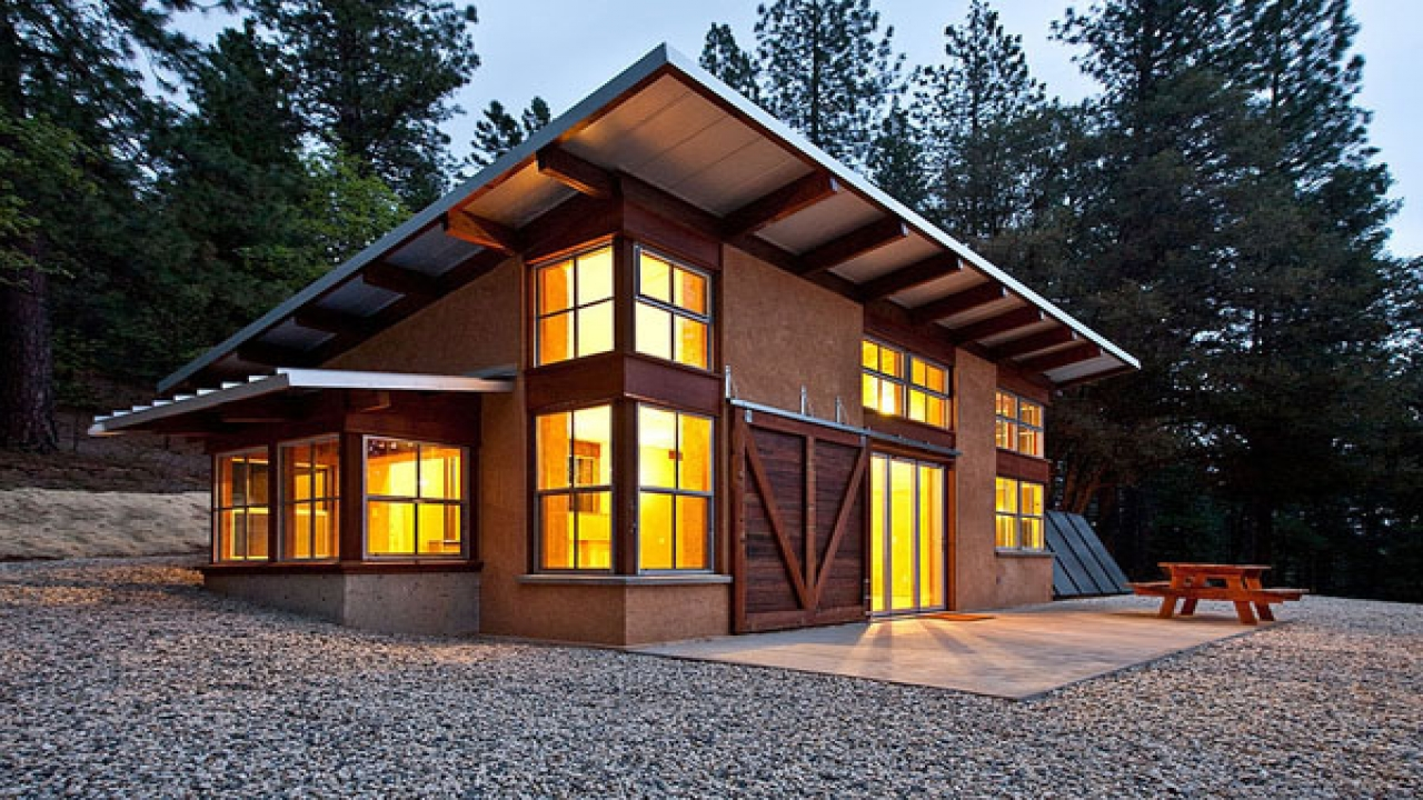 Slant Roof Shed Cabin Shed Roof Cabin House Plans Energy