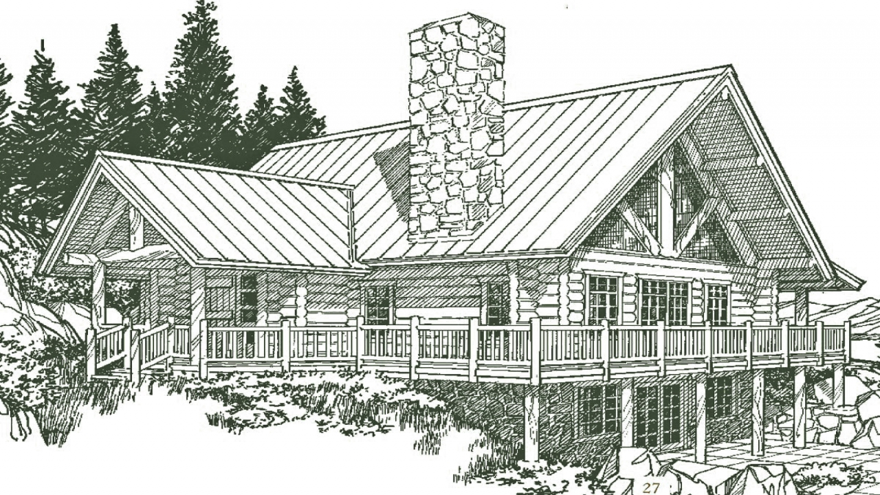 Small log home house plans small log cabins one story log for One story log home plans