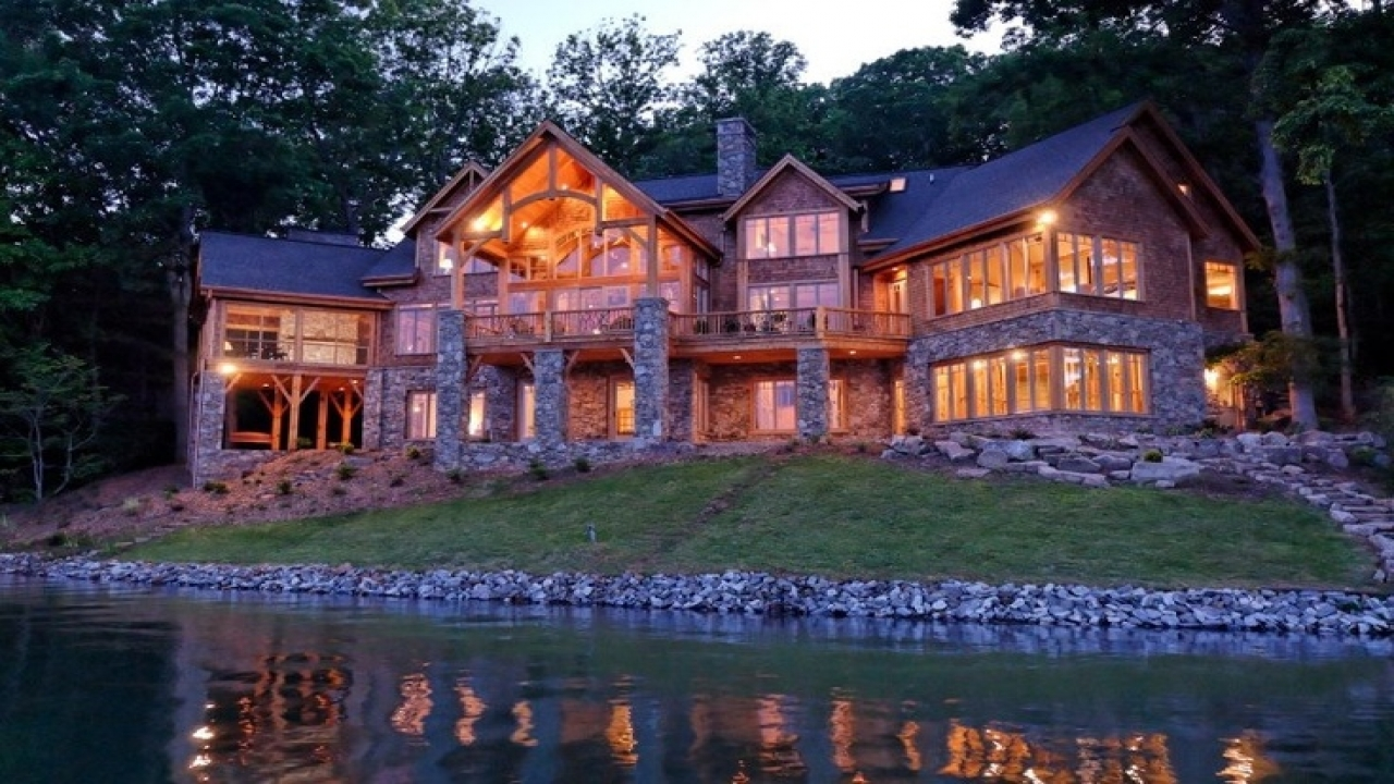 Bedroom Log Home Plans Cabin Mansion Homes Mansions Treesranch