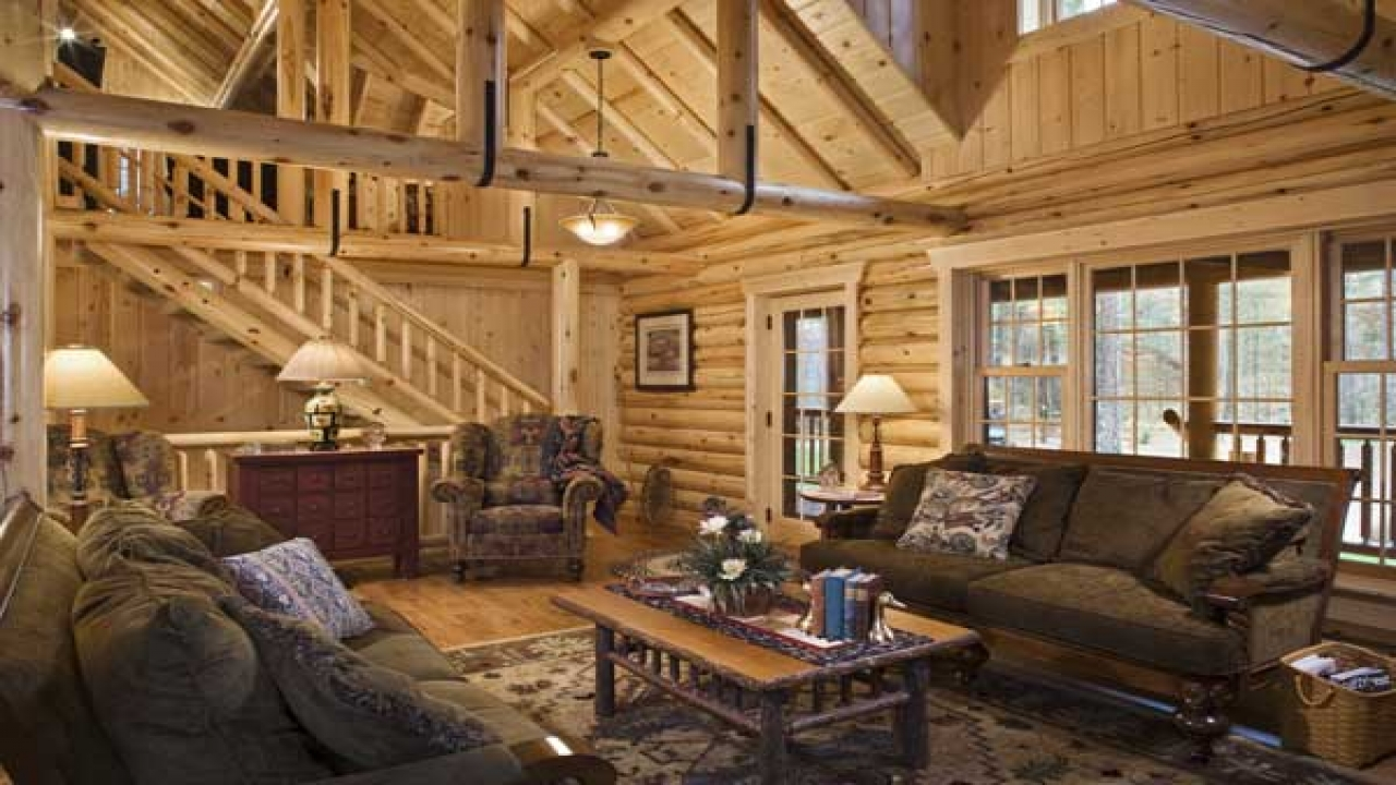 stunning log cabin living room | Beautiful Log Cabin Living Rooms Log Cabin Living Room, 2 ...