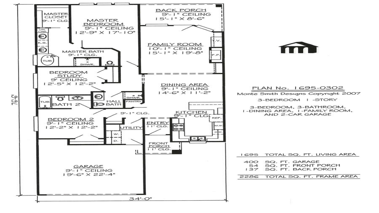 Best one story house plans one story narrow house plans for Most popular one story house plans
