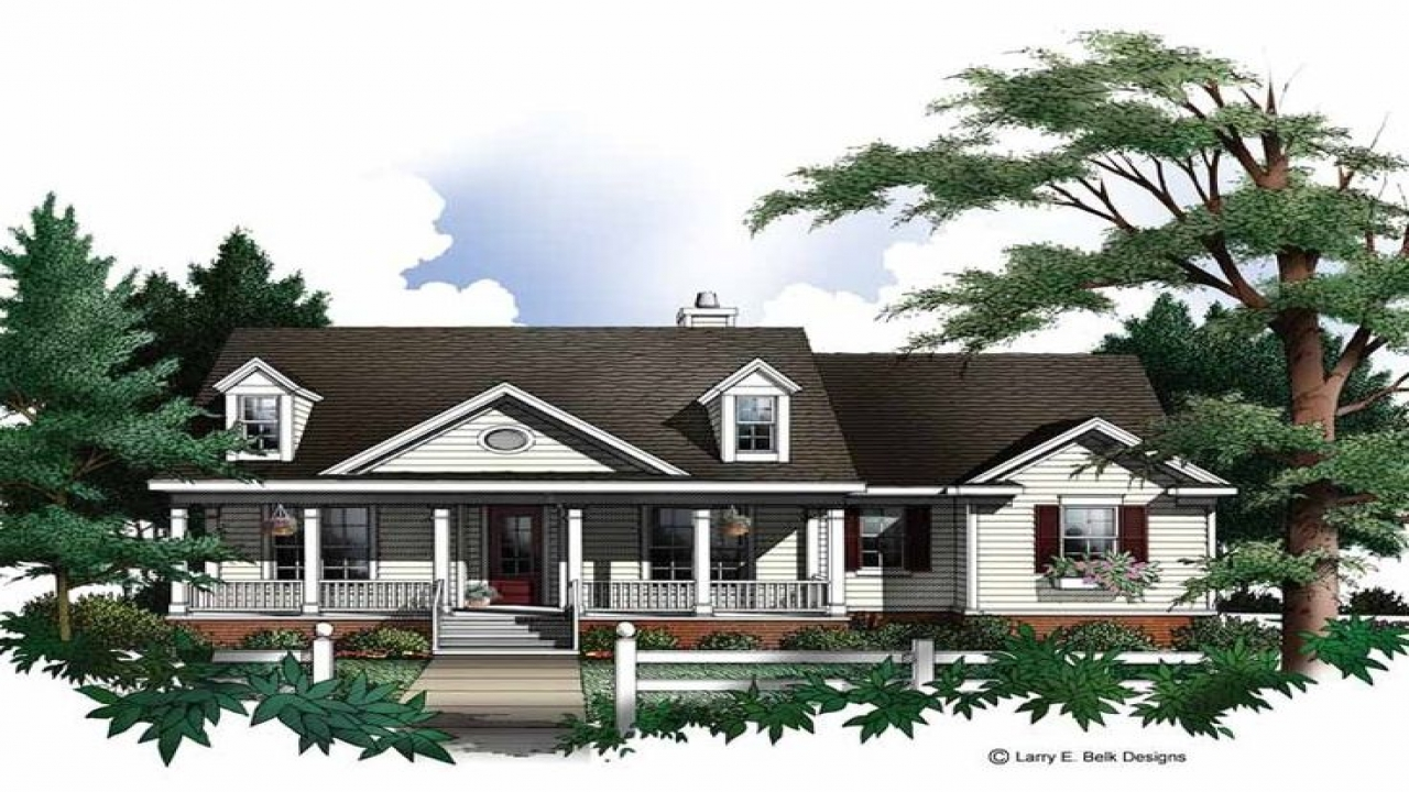 Country house plans with dormers country house plans with for Country house plans with open floor plan