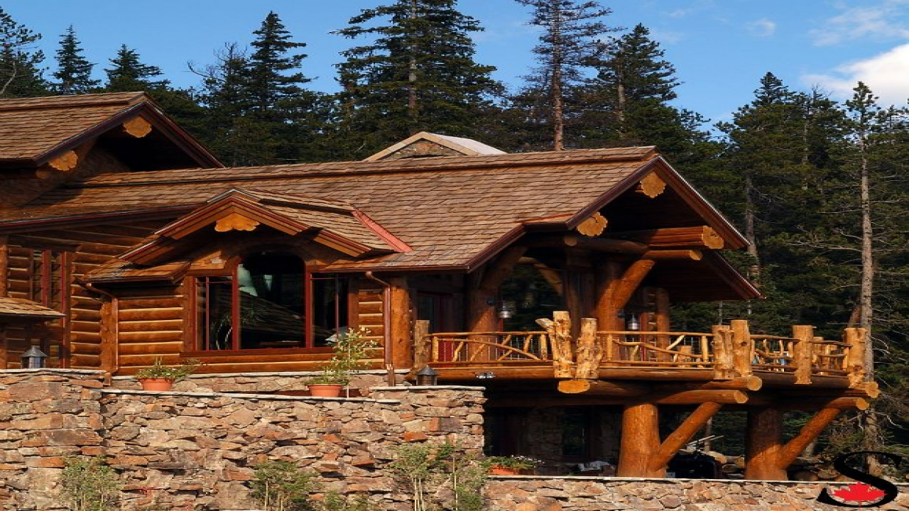 Hybrid log house in colorado log work by sitka log homes for Log home plans colorado