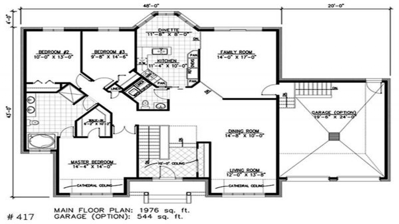 One story bungalow house plans bay window small house for Bungalow floor plans historic
