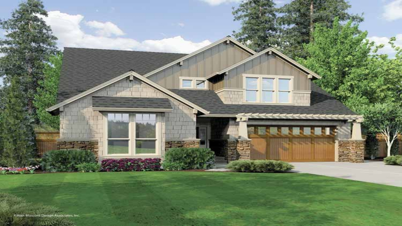 One story craftsman style homes 2 story craftsman house for One story craftsman style home plans