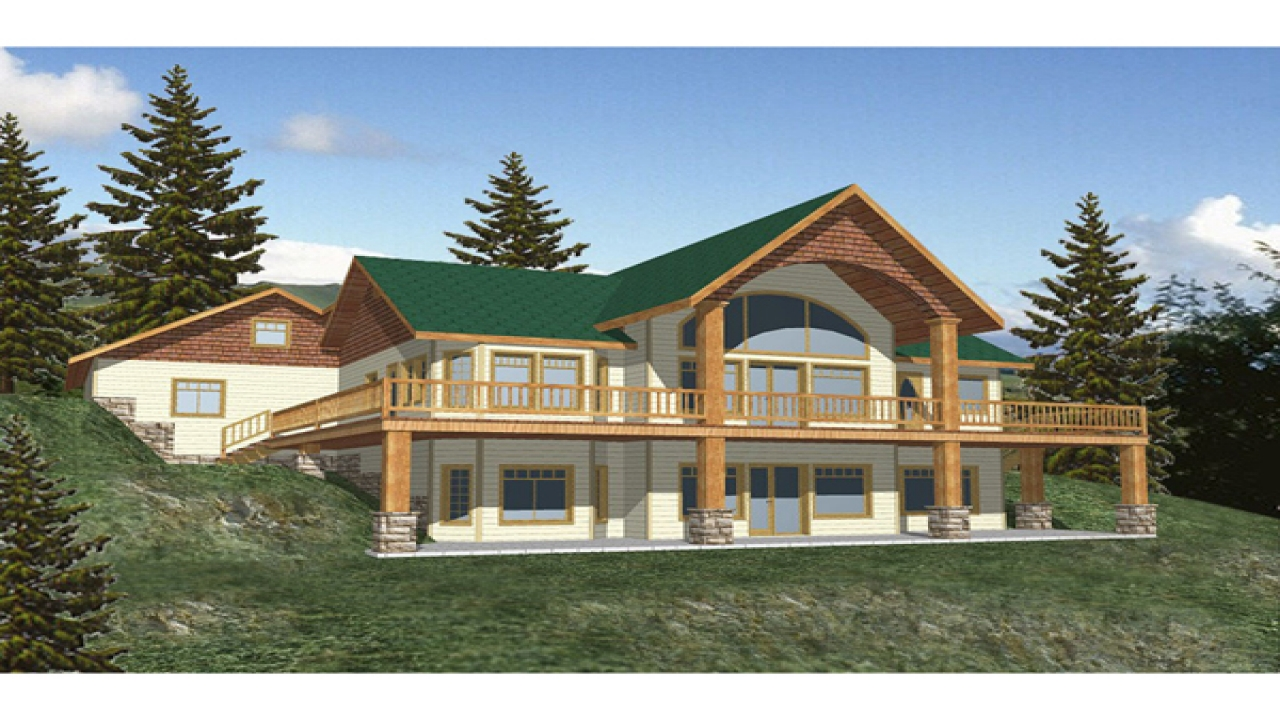 Ranch house plans with walkout basement walkout basement for Waterfront cottage plans