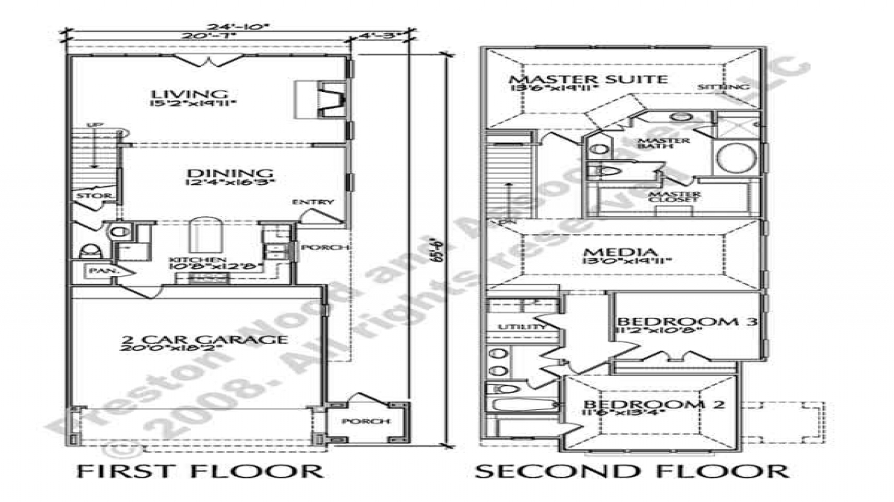Row townhouse floor plan luxury townhouse floor plans for Luxury townhouse plans