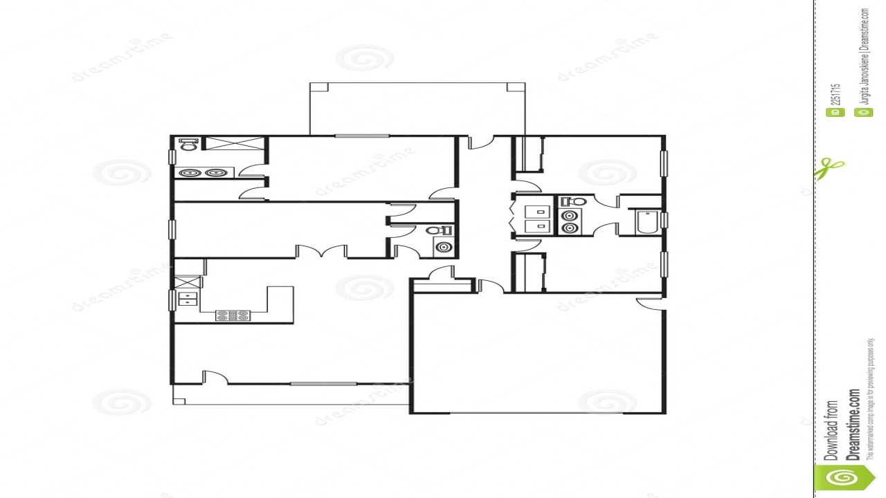 Single family house plans free single floor house plans for Big family house floor plans
