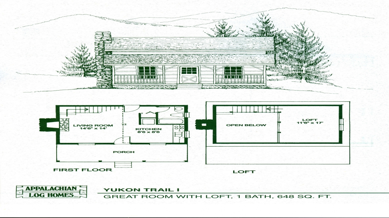 Small cabin floor plans with loft simple cabin floor plans for Simple cabin plans with loft