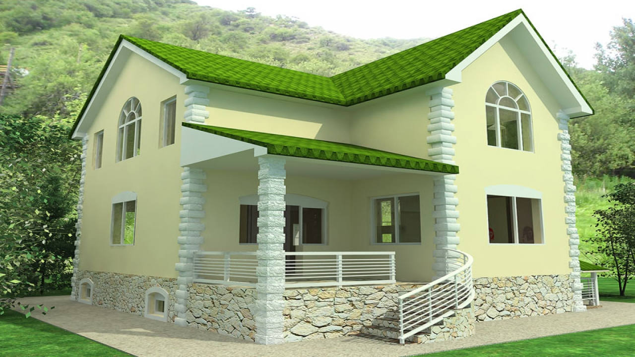 Small house exterior design beautiful small house design for Exterior ranch home designs