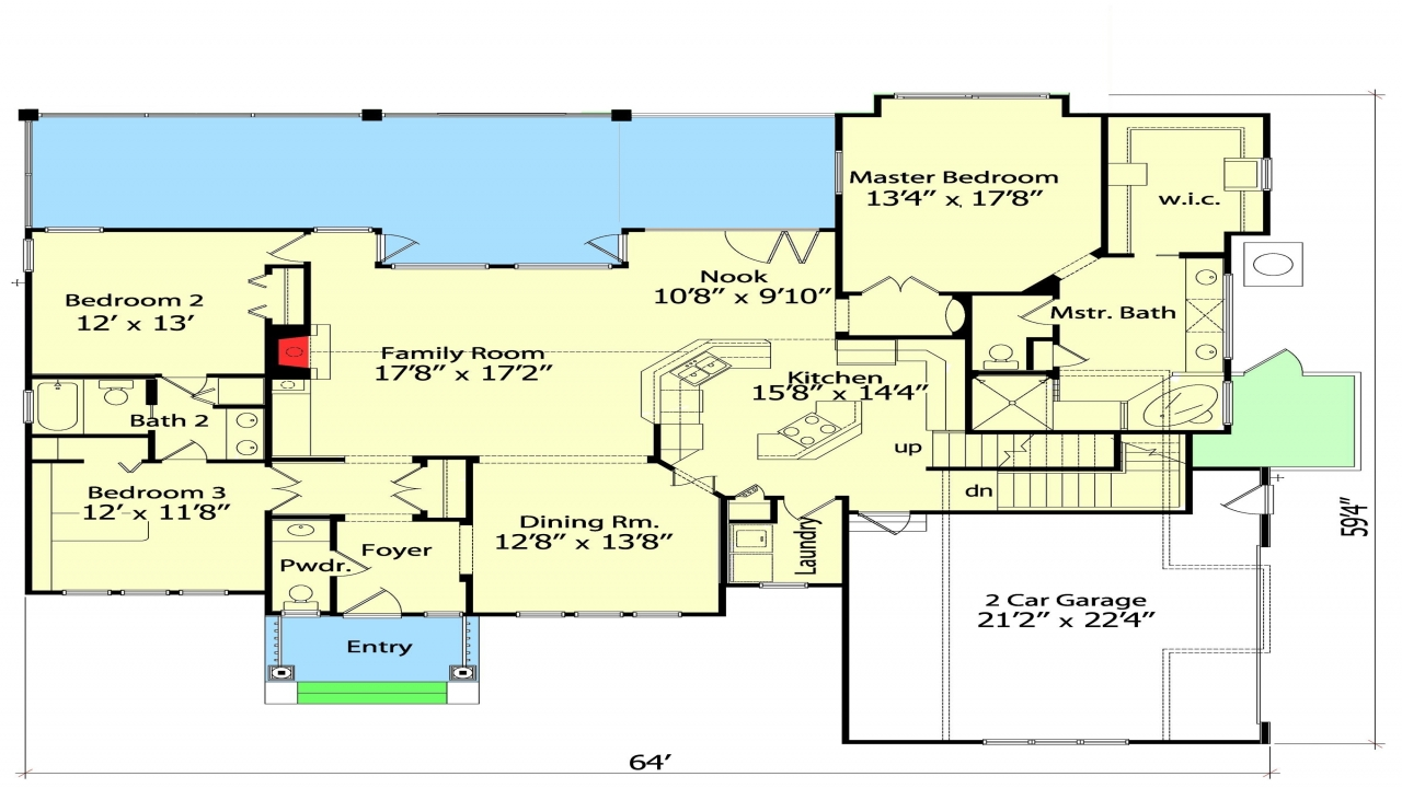 Tiny House Open Floor Plan: Small House Plans With Open Floor Plan Little House Floor
