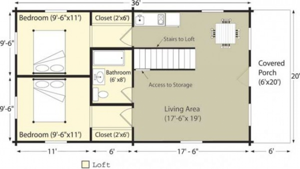Small Log Cabin Floor Plans Log Cabin Floor Plans 4