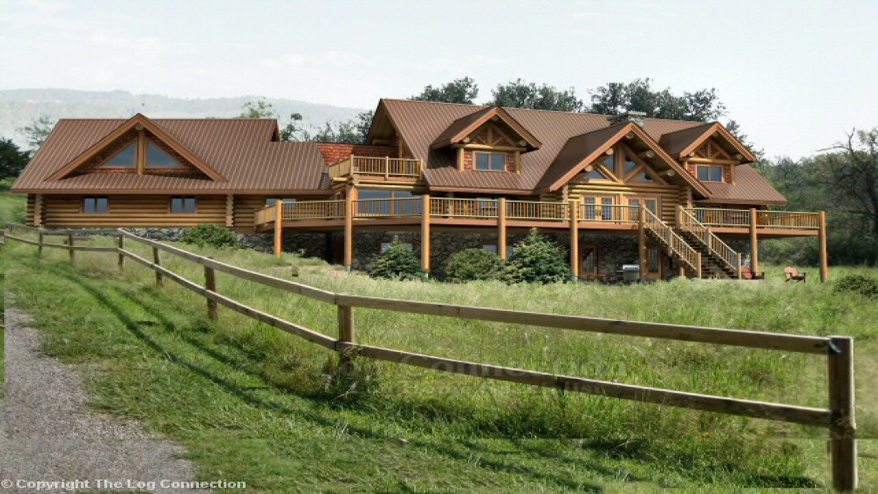 Texas ranch style log homes texas ranch style house plans for Ranch style log home floor plans