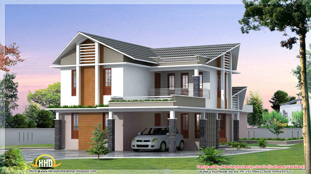 Beautiful house front elevation designs kerala house plans for Beautiful houses and plans