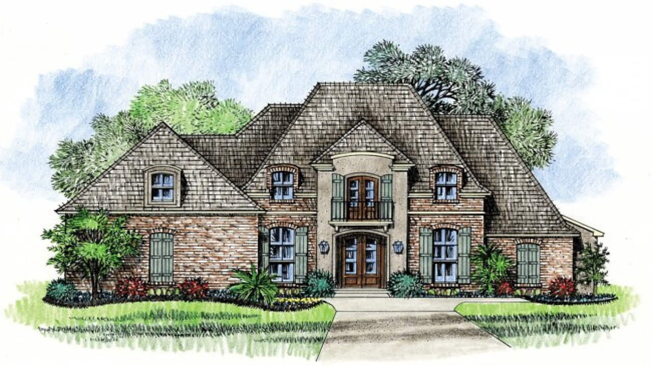 Country house plans with porches french country house for Bbc home designs