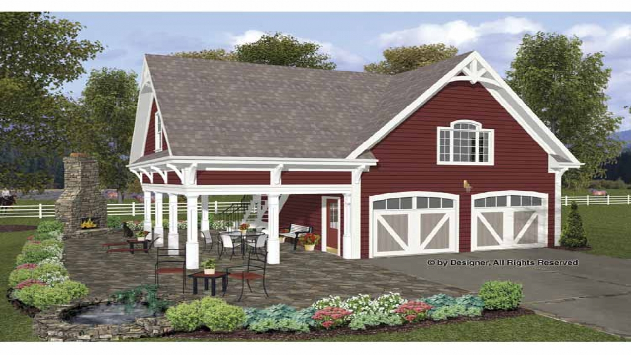 Four car garage with carriage house plans carriage house for Carriage home designs
