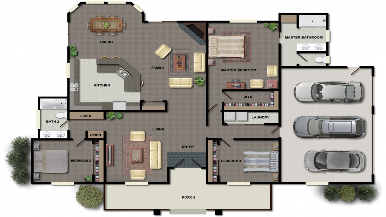 House Floor Plans In Color House Floor Plan Design House