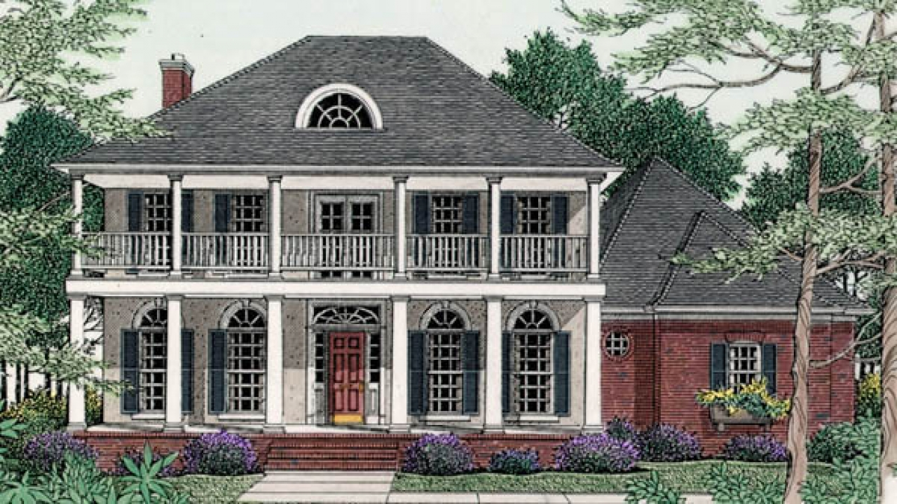 Inside old house old southern plantation house plans for Southern plantation house plans